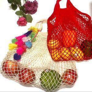 Cotton Mesh Shopping Bags Reusable